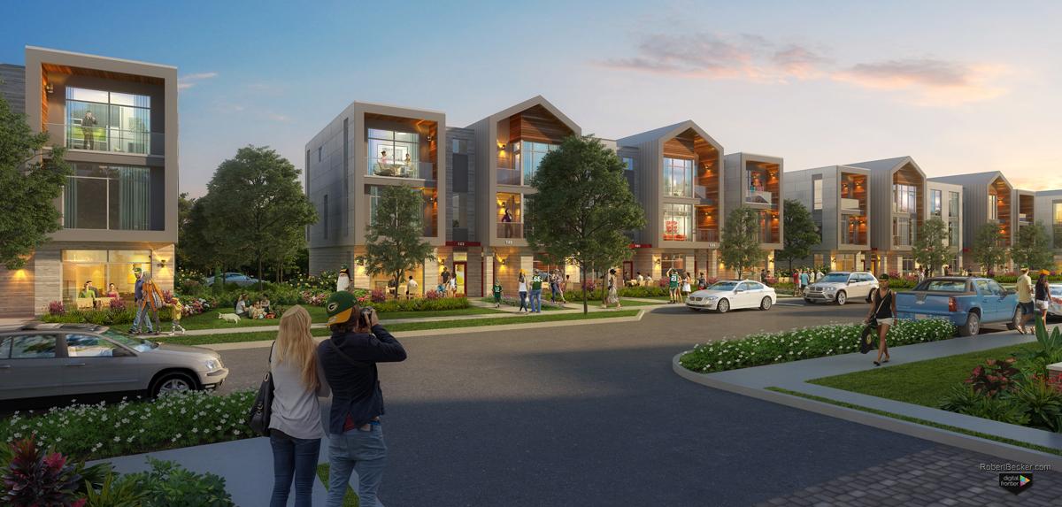 Titletown street rendering