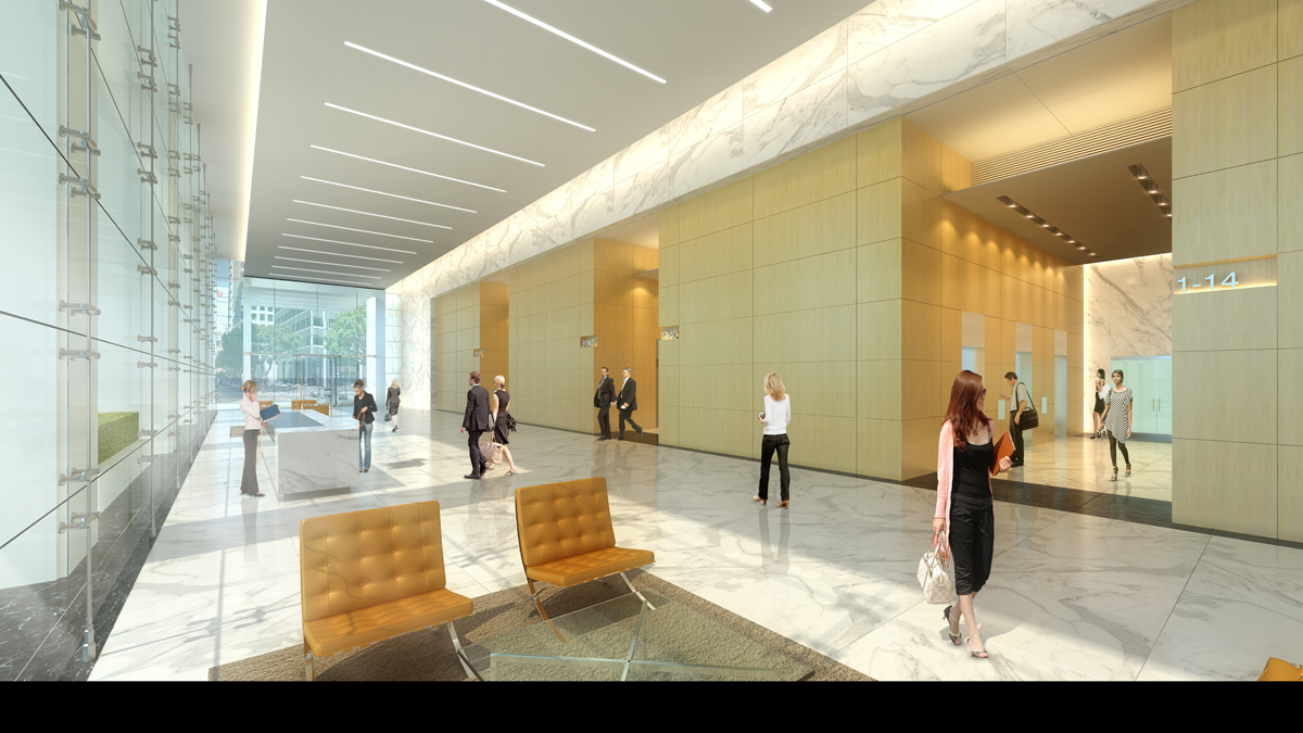 TMT 50 California Interior lobby rendering
