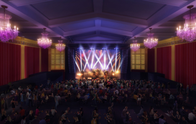 UC theatre Digital interior rendering