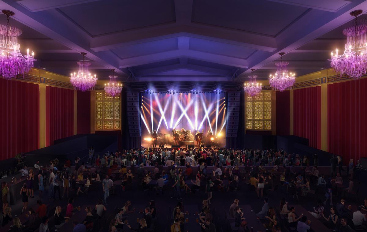 UC theatre Digital interior rendering