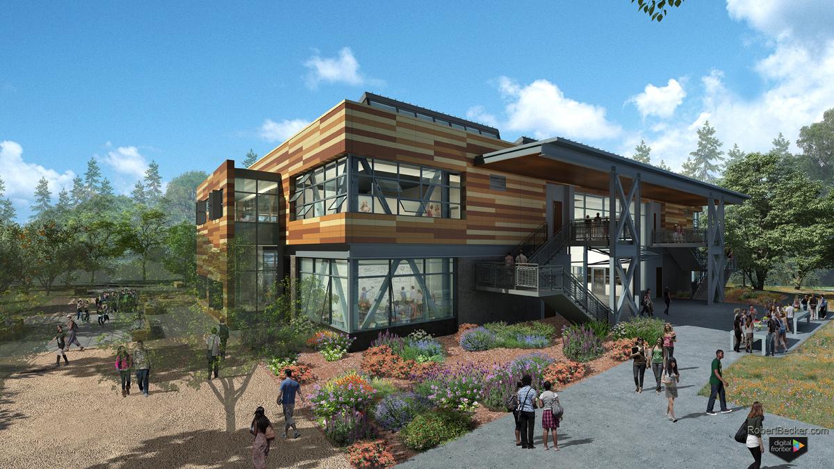 Hawaii residence exterior marketing rendering