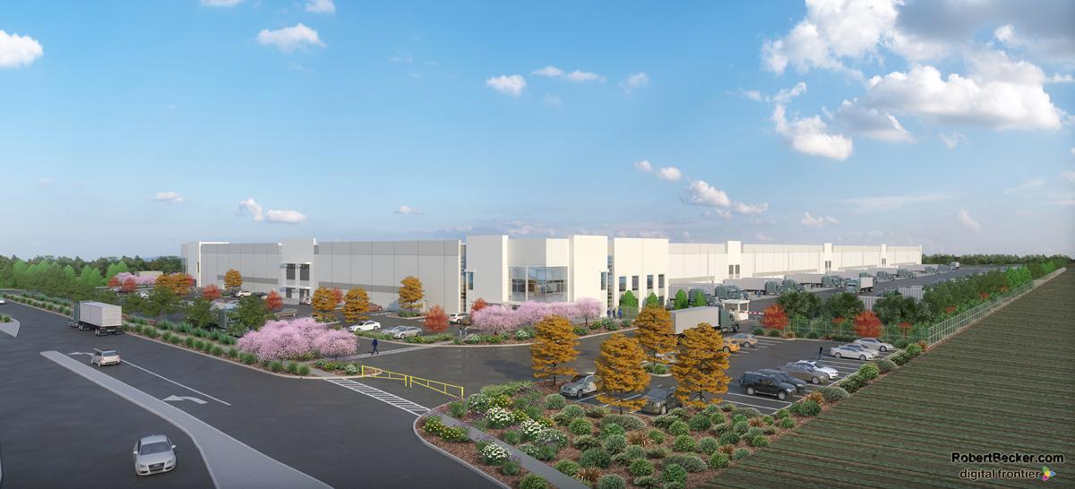 Industrial building rendering