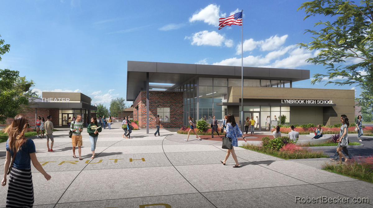 Photorealistic Rendering of Lynbrook HS GSS