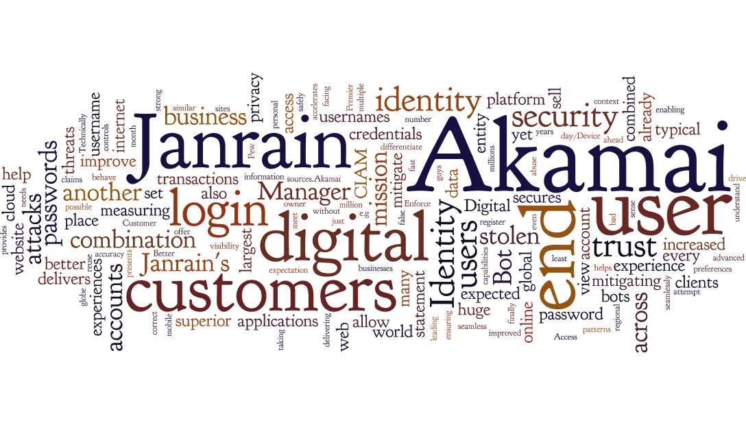 Janrain & Akamai Wordle