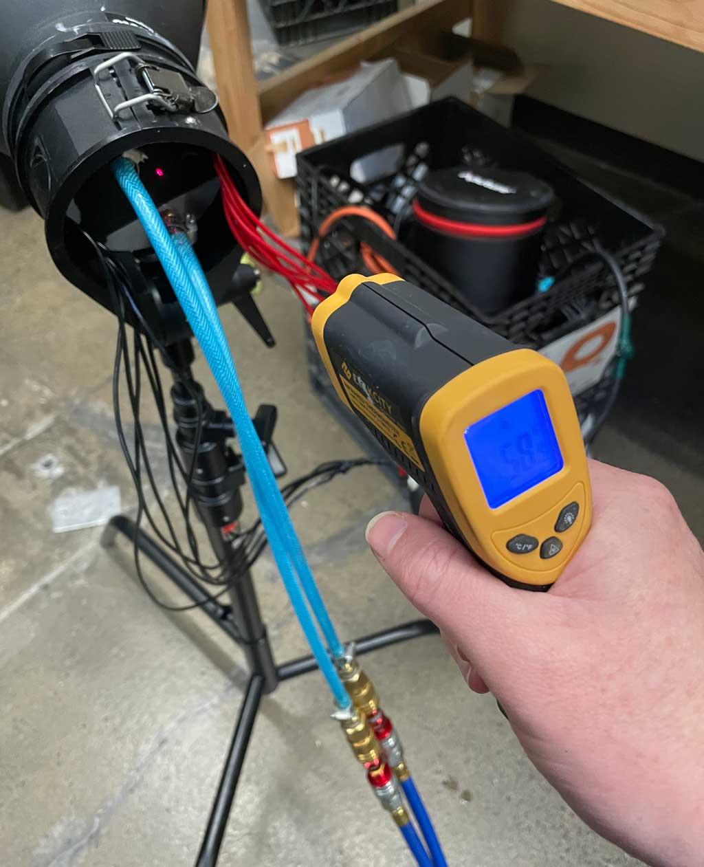 1500 watt LED temperature test