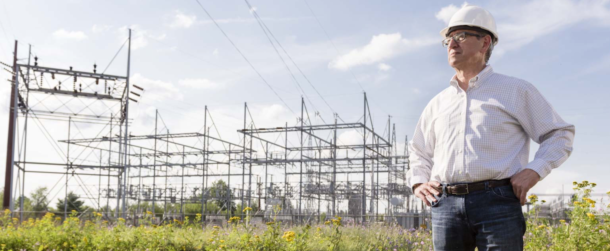 Vision - Engineer overseeing a power sub-station