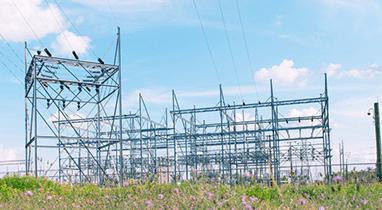 power station in a field
