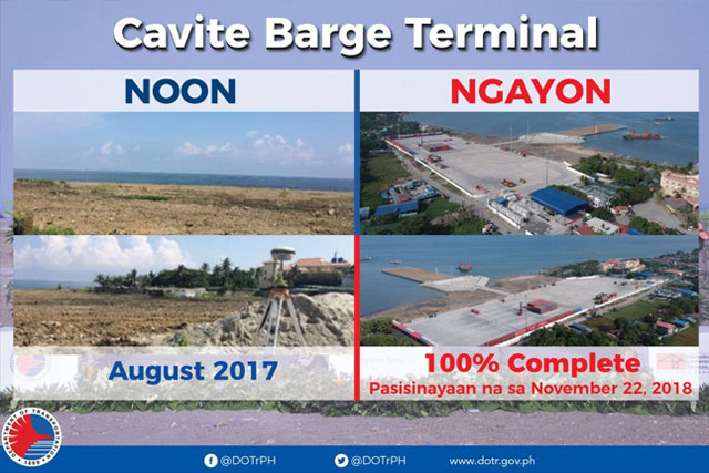 Inauguration of Cavite Barge Terminal on 22 November