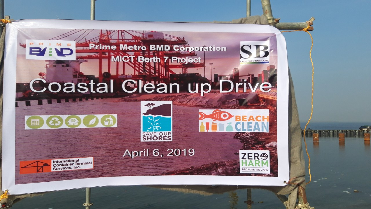 PrimeBMD organizes a Coastal Clean-up Drive at MICT