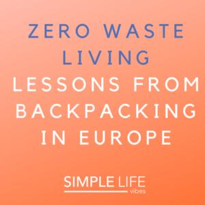 zero waste living tips
