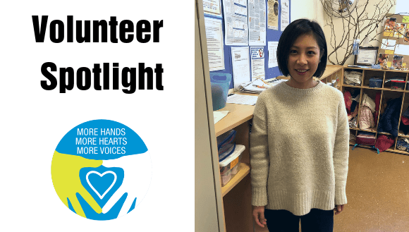 Volunteer Spotlight Ting Ting Banner