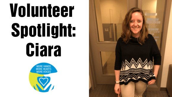 Volunteer Spotlight Ciara Banner