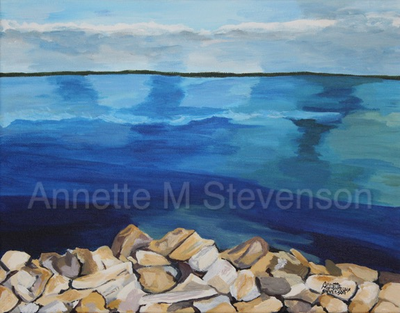 Lake, WaterScene, Waterscapes, Clouds, water,