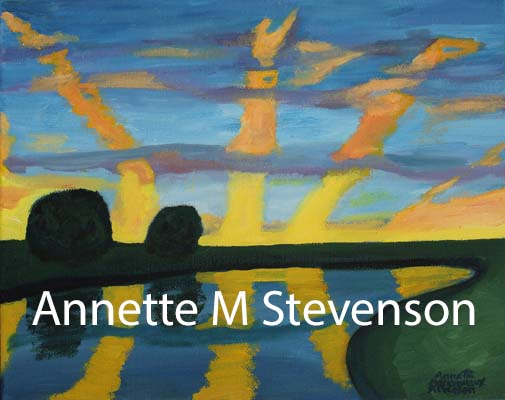 sunrise, morning, lake watercape, water, waterscene, painting