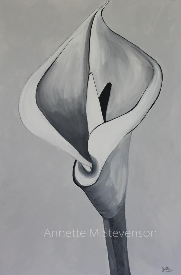 Annette M Stevenson, painting, Solitude,