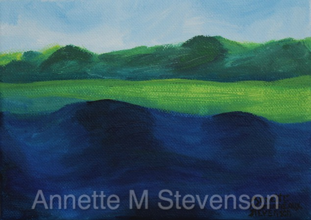 Lake, waterscapes, landscapes, painting