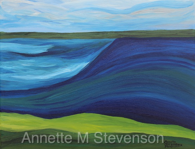 Waterscenes, waterscapes, lake series