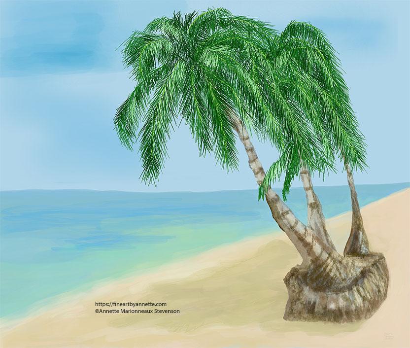 Peaceful quiet beach,