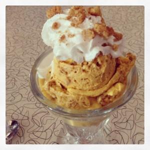 Spiral Bakery Pumpkin cheesecake icecream
