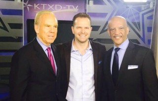 Matt Thornton with Roger Staubach and Drew Pearson