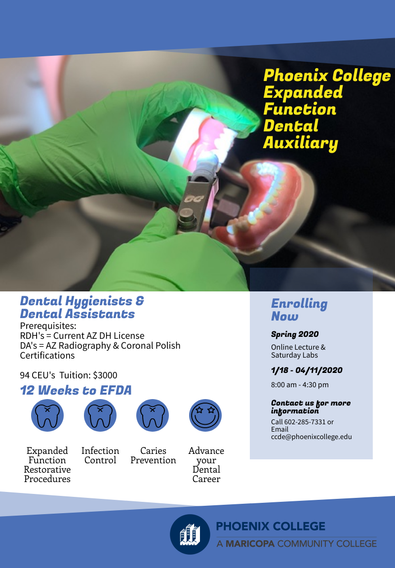 Expanded Functional Dental Auxiliary @ Phoenix College