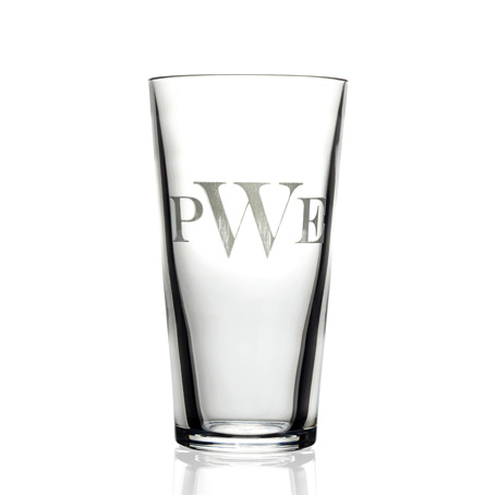 Pub WARE Pint Glass Etched