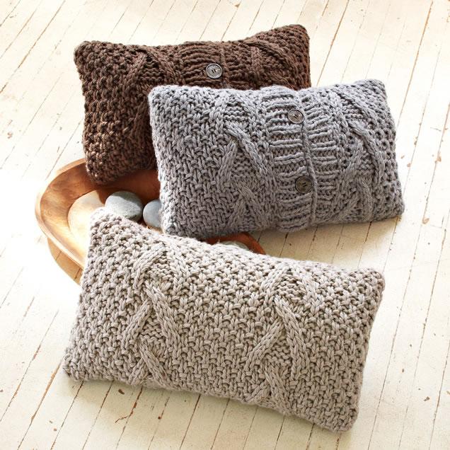 West Elm Knit Pillows