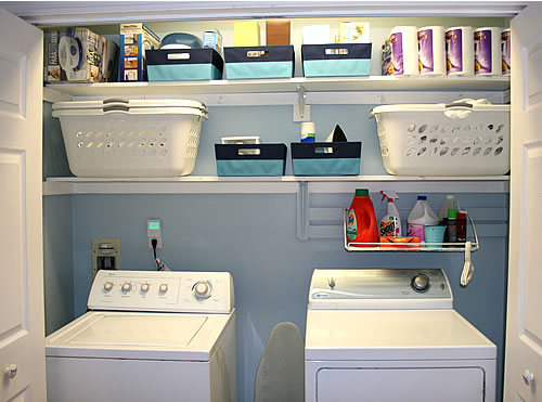 Laundry Space from Drab to Fab
