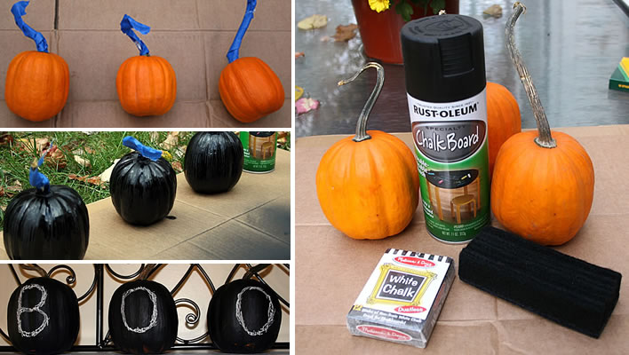 chalkboard pumpkins at www.yourhomeonlybetter.com