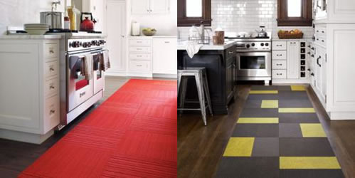 FLOR tiles in the kitchen
