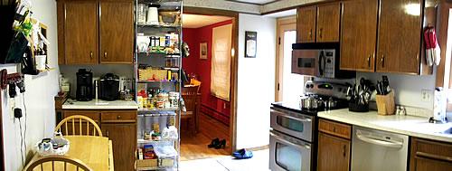 kitchen panorama view