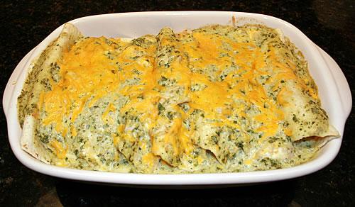 The Best Verde Turkey Enchiladas Ever!