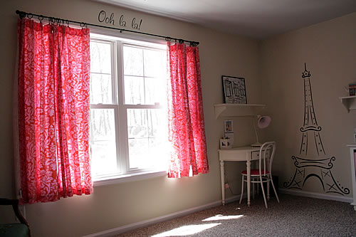 girls french cafe bedroom