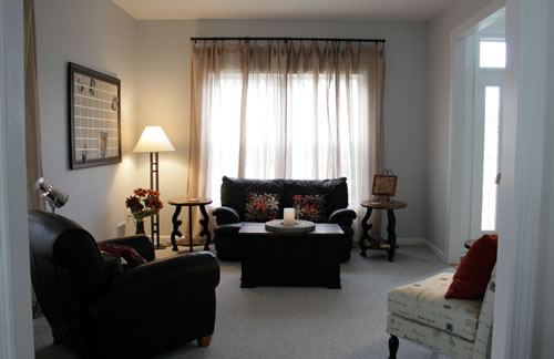 view from family room to living room