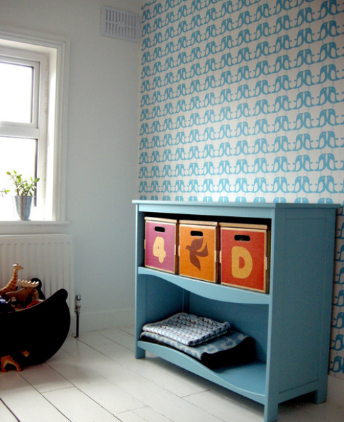 blue gender neutral kids room