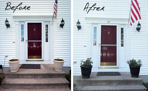 staged front door