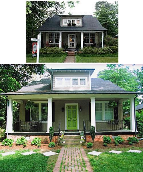green front door from urbannestblog