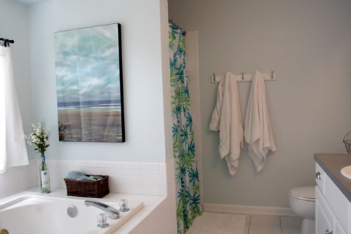 pale blue master bathroom