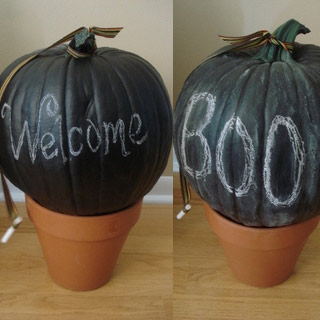 chalkboard pumpkin