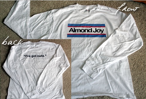halloween costume almond joy