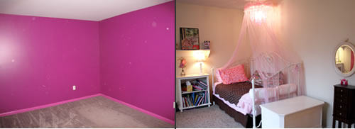 girls room before and after