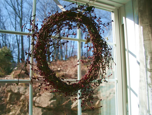 holiday window wreath