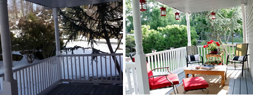 porch before and after