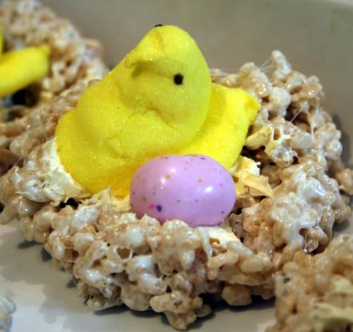 peep rice krispies bird nest