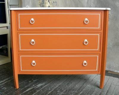 Orange Retro Dresser