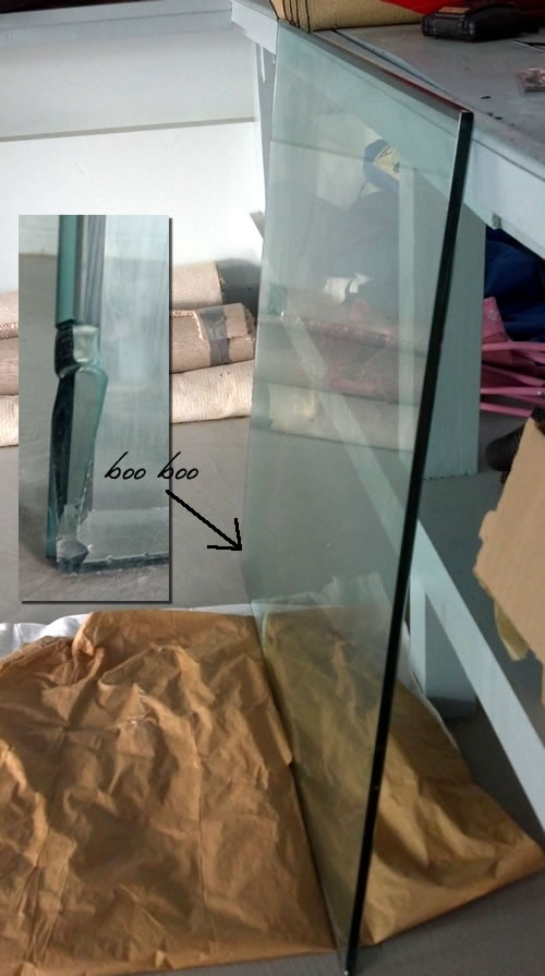 How to fix a chipped glass tabletop