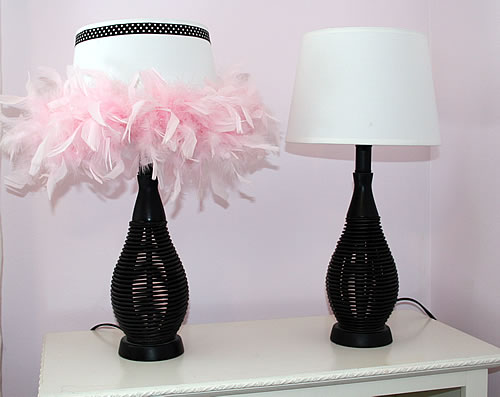 upcycled lampshade before and after
