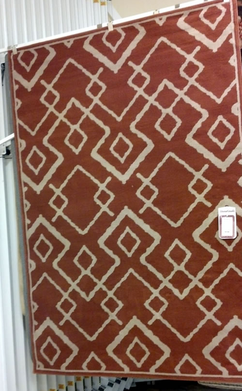geometric area rug from HomeGoods