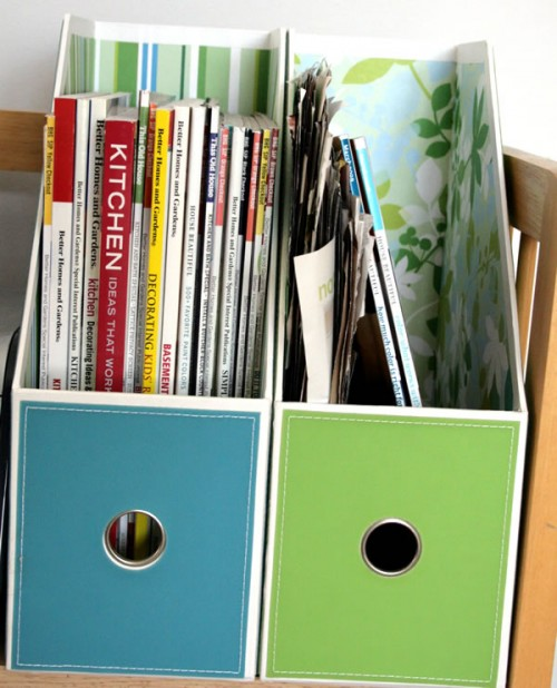 magazine storage bins