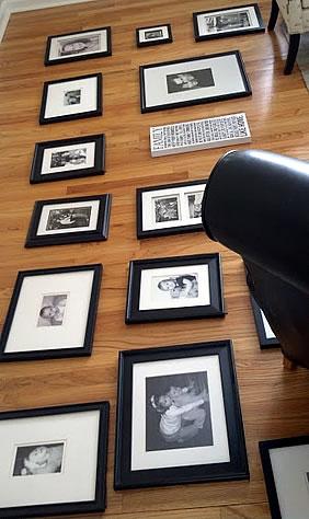 art layout on floor